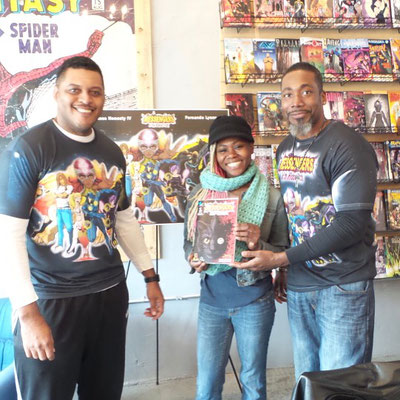 Ariell, and the good folks at Amalgam Comic and Coffeehouse were great hosts for our first public event!