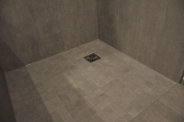 barrierefreie Dusche - Mosaik