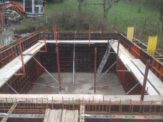 Rohbauarbeiten - zweigeschössiger Neubau - Kellergeschosss