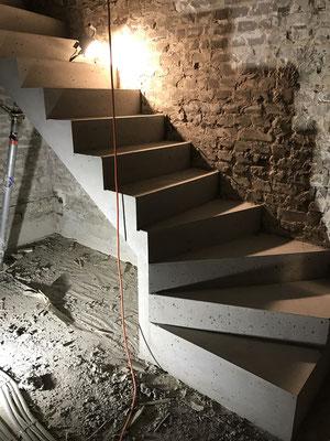 Sichtbeton Kellertreppe 01