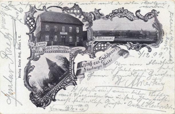 Postkarte aus dem Jahr 1899(private Sammlung)