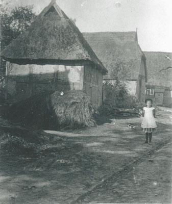 Kötner-Reihe um 1910 heute Hauptstraße, Volksbankgelände (Foto private Sammlung)