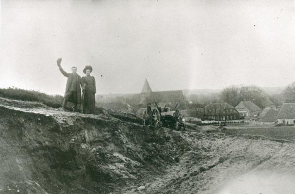 Am Paaschberg, Beginn des 20. Jahrhunderts Sandkuhle (Foto private Sammlung)