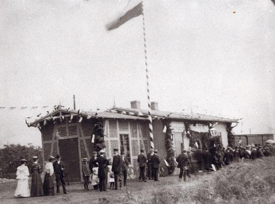 Bahnhof Salzhausen Einweihung der Kleinbahn Winsen (Luhe) – Egestorf  am 20. Juli 1906