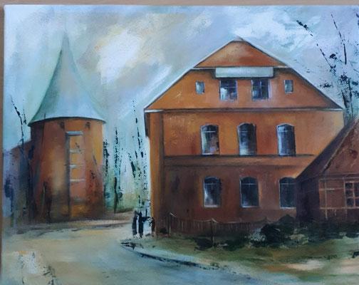 Hotel Deutsches Haus gemalt von Marianne Ehmke