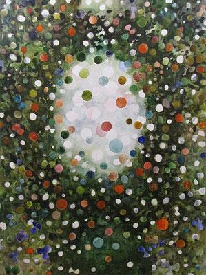 Lucht    160x120   aquarel op doek