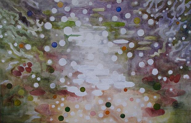 Water 80x120 aquarel op doek