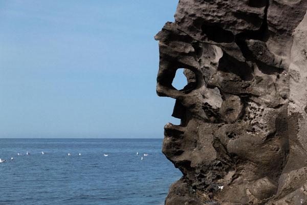 Statue du Strombolito, Iles Eoliennes, Italie