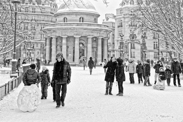 Neige au Parc Monceau, 2013