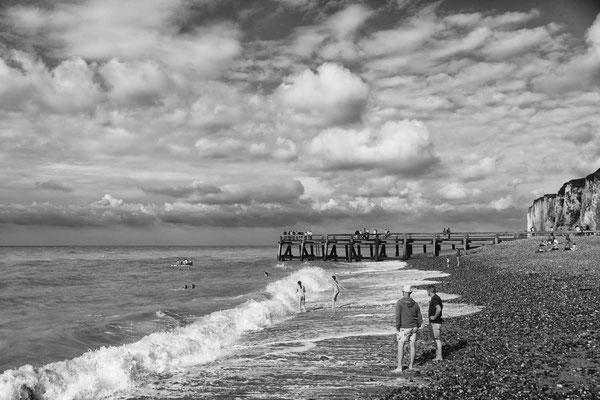 Scène de plage normande