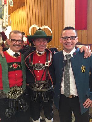 Christian Pichler, Hugo Jenewein und Karl Mühlsteiger