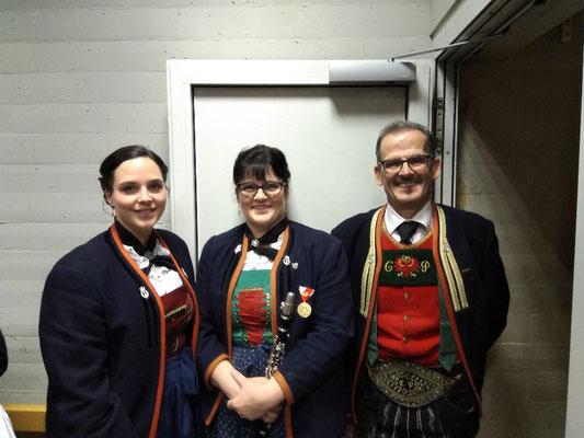 Julia, Sigrid und Christian