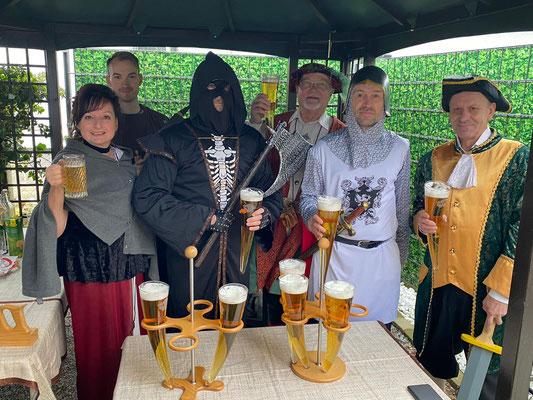 Glashorntrinken bei einem coolen privaten Ritterfest in Gallneukirchen!