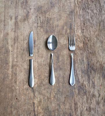 分離したカトラリー Split Cutlery 2018