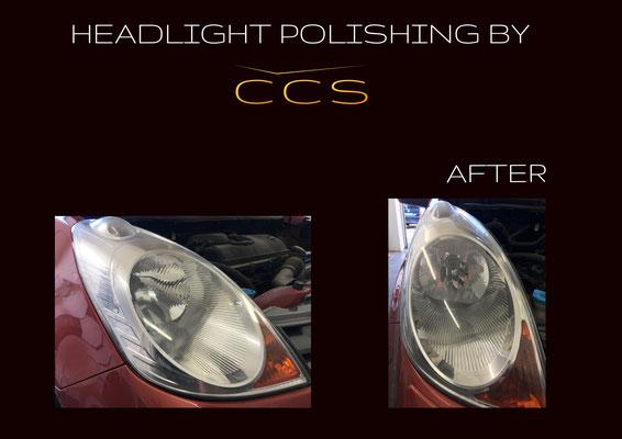 headlight polishing after