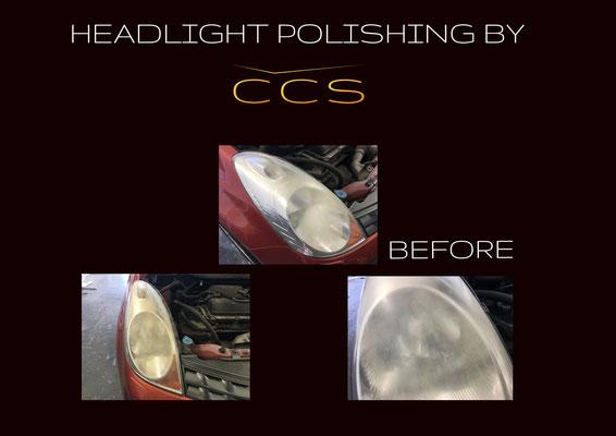 headlight polishing before