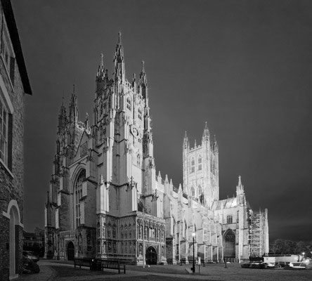 Peter: Canterbury Cathedral BW