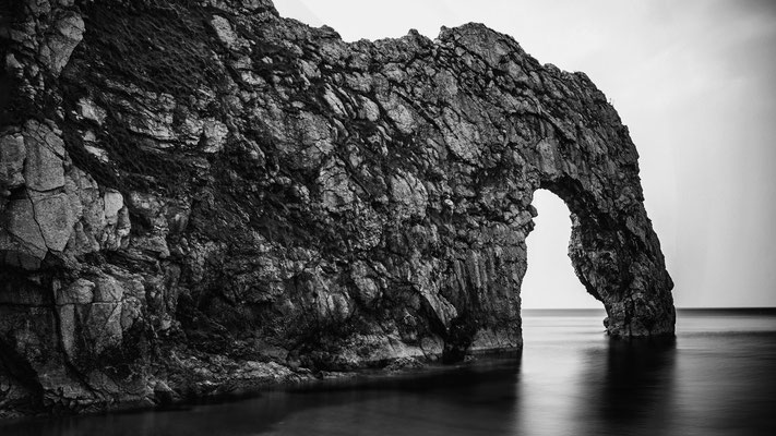 Peter: Durdle Door BW