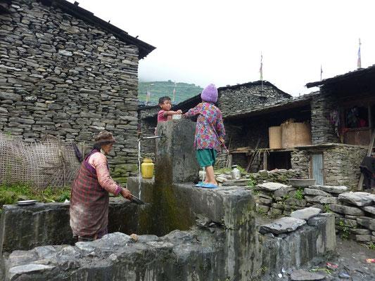Vom zentralen Dorfbrunnen aus wuchs das Dorf