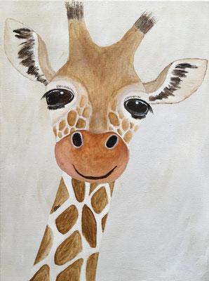fertiggestellt 2020 - Titel: Giraffe - Format 30 x 40 cm - Preis 95,00 €