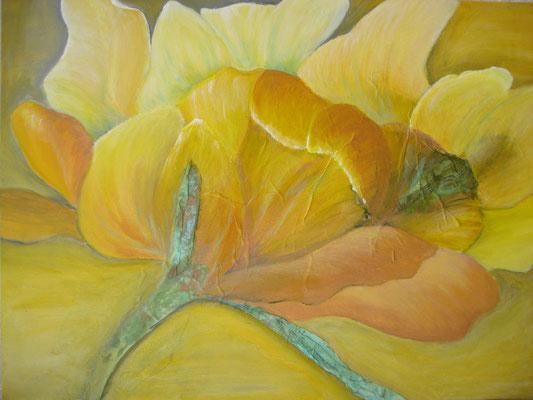 fertig gestellt 2018 - Titel: Gelbe Tulpe - Format 30 x 40 cm - verkauft