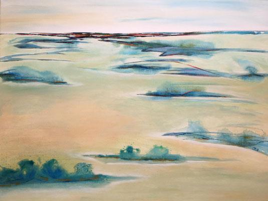 fertiggestellt 2020 - Titel: Insellandschaft - Format 80 x 60 cm - Preis 230,00 €