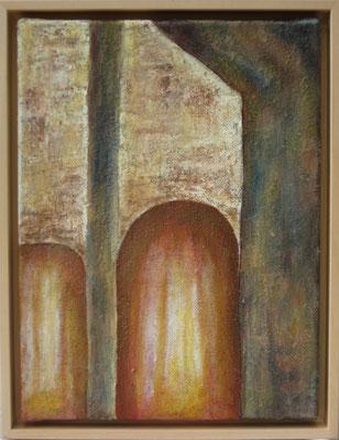 fertig gestellt 2019 - Titel: Durchgänge - Format: 34 x 43,5 cm - Preis mit Rahmen 150,00 €