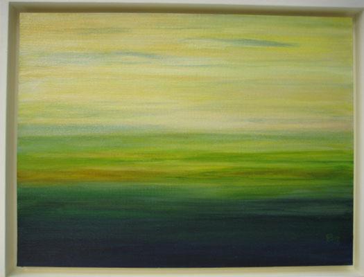 fertig gestellt 2018 - Titel: Landschaft - Format mit Rahmen 44 x 34 - verkauft
