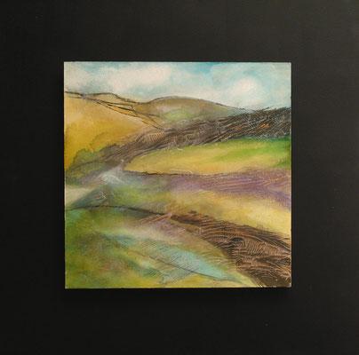 fertig gestellt 2020- Titel: Weites Land I - Format 50 x 50 cm - Preis 190,00 €