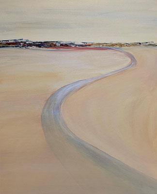 fertiggestellt 2020 - Titel - In der Wüste I - Format 50 x 70 cm - Preis 210,00 €