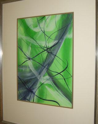 fertig gestellt 2018 - Titel: Im Feenwald - Format mit Rahmen 42 x 53 cm - verkauft