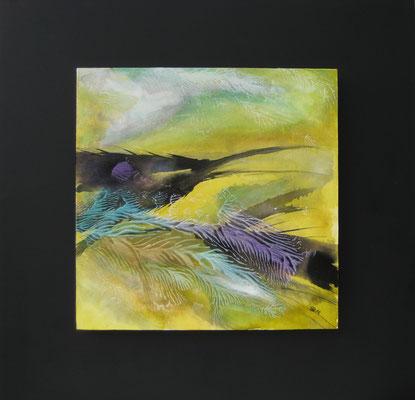 fertig gestellt 2019 - Titel: Im Flug - Format 50 x 50 cm - Preis 190,00 €