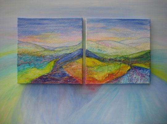 fertig gestellt 2018 - Titel: Berglandschaft - Format 80 x 60 cm - Preis 280,00 €