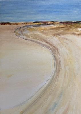fertiggestellt 2020 - Titel: In der Wüste II - Format 50 x 70 cm - Preis 210,00 €