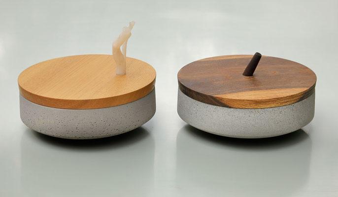 Schale, Beton, Holz, Kunststoff