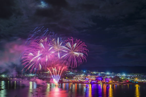 Feuerwerk nach Veranstaltung, Fotograf: Tom Wenig