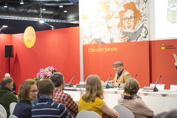 Lesung auf Leipziger Messe, Fotograf: Tom Wenig