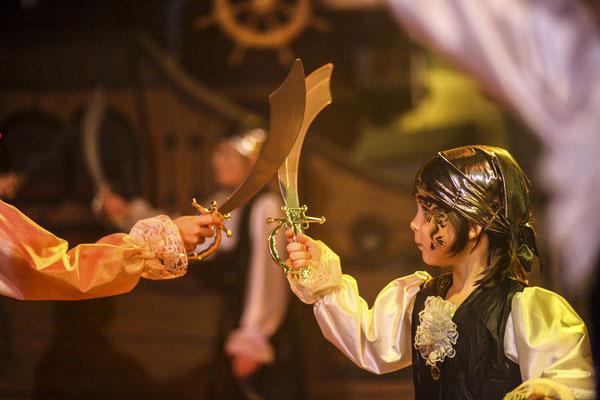Kinderveranstaltung mit Piratenkind, Fotograf: Tom Wenig