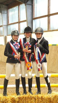 Vierkampf: Hanna Geisel, Janna Schautes, Katharina Styra (v.l.n.re)