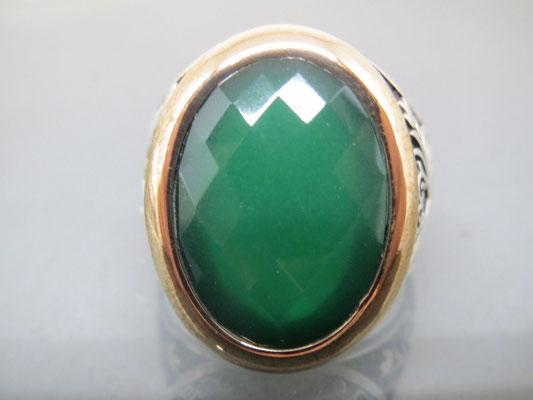 мужская печатка перстень с изумрудом в серебре