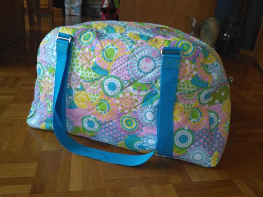 beschichtete Baumwolle von Tante Ema verarbeitet als Reisetasche