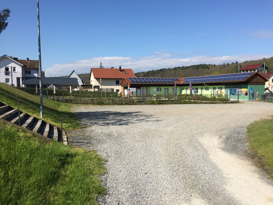 Parkplatz vor dem Naturbad