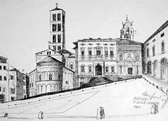 Reiseskizze Arezzo (Privatbesitz)