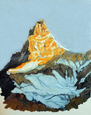 Obergabelhorn; Wallis; Öl auf Leinwand 50 x 60 cm