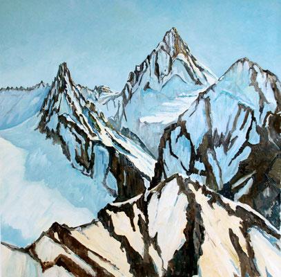Dent Blanche 60 x 60 Öl auf Leinwand (Privatbesitz)