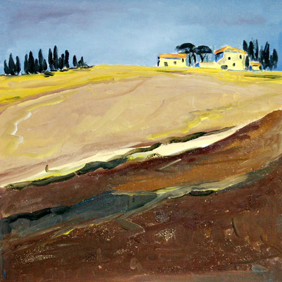 Herbst in der Toscana 50 x 50 Öl auf Leinwand (verkauft)