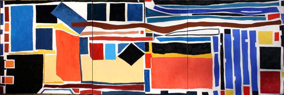 Di Gi Do Trilogie 100 x 300 Öl auf Leinwand 2-fach vorhanden (1 x verkauft)