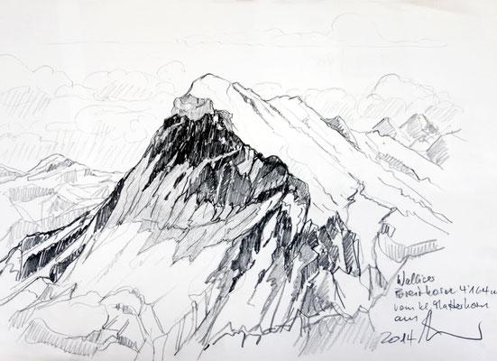 Walliser Breithorn von Klein Matterhorn aus