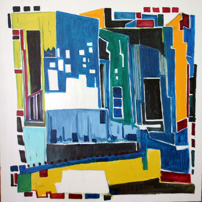 Buenos Aires 100 x 100 Öl auf Leinwand (verkauft)