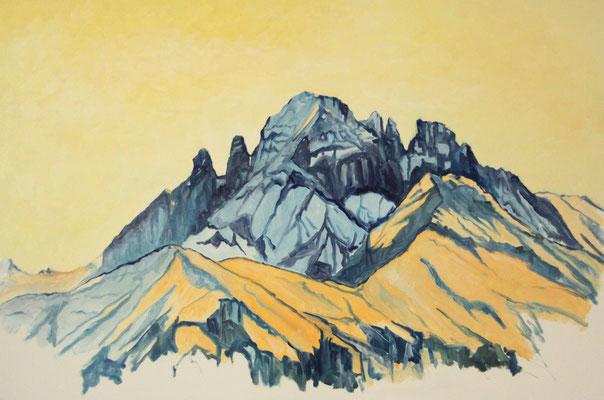 Gspaltenhorn im Sommer 100 x 70 cm Öl auf Leinwand